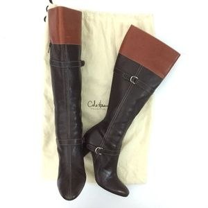 Cole Haan Shoes - Cole Haan Italian Leather Zip Knee High Heel Boot